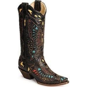 Corral Vintage Butterfly Inlay Western Boots